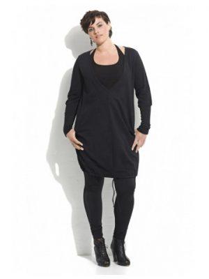 Kiera mjuk tunika/klänning från CARMAKOMA svart