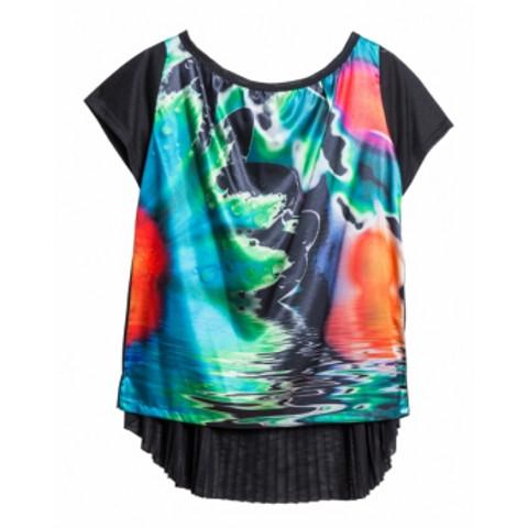 Topp plisserad med tryck från maT Fashion