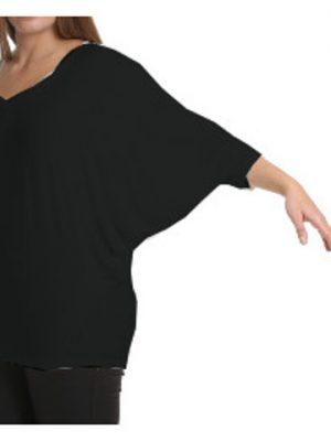 Svart topp med pingvinärm från maT Fashion på REA