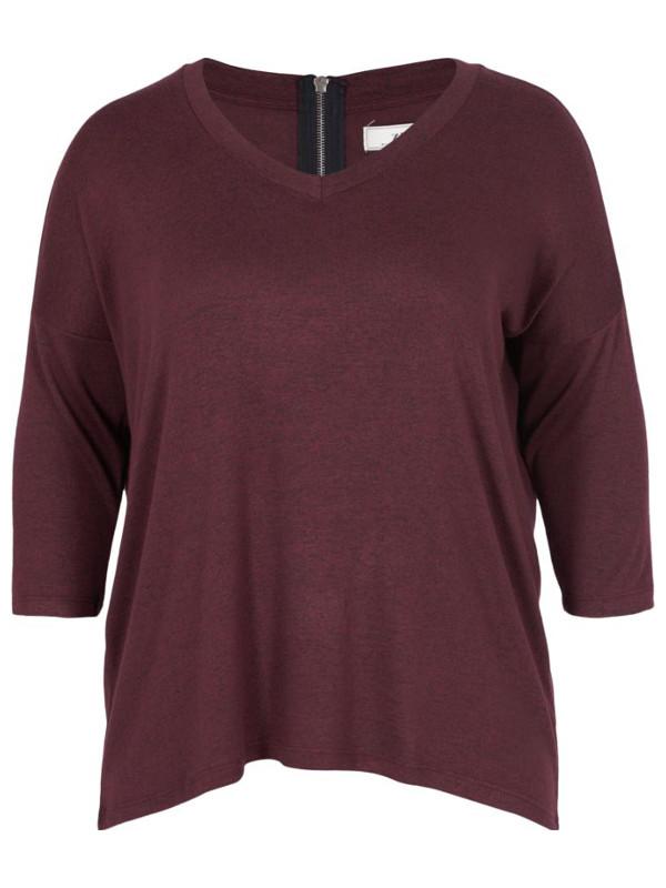 Plommonfärgad tröja i stor storlek