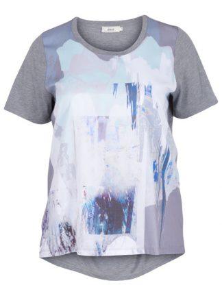 T-shirt från Zizzi grå/blå