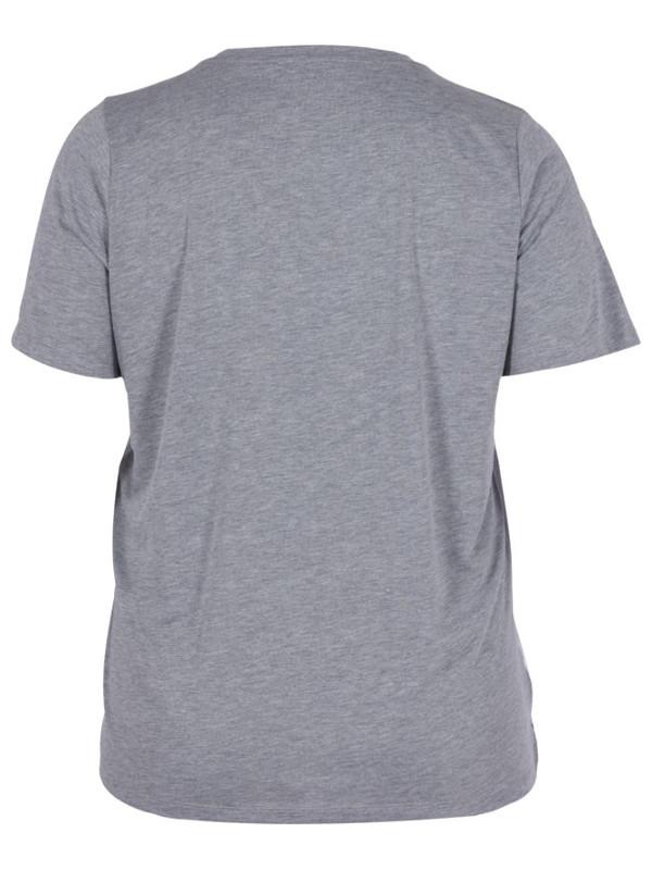 Grå/blå t-shirt bak
