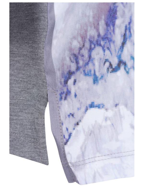 T-shirt grå/blå detalj