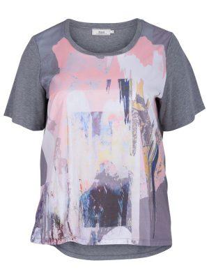 T-shirt från Zizzi grå/rosa