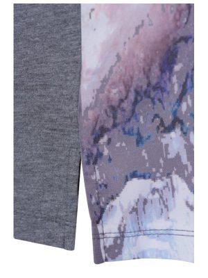 T-shirt grå/rosa detalj