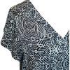 Detlaj av blus i grafiskt mönster i stora storlekar