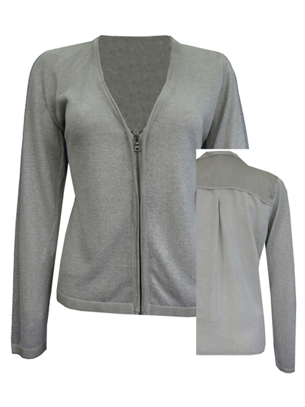 Kort cardigan i silver från top secret