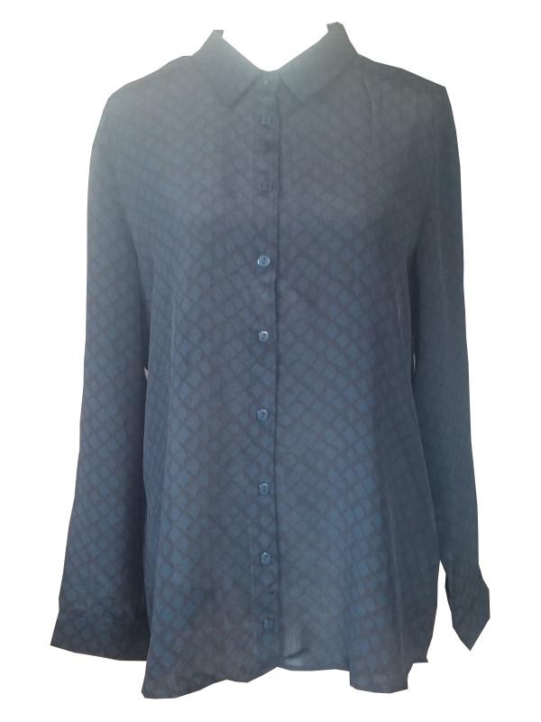 Elegant skjorta med diskret rutmönster.