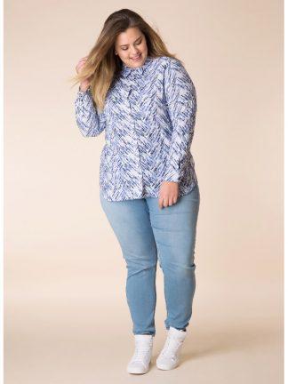 Fräsch skjorta från yesta i blå toner