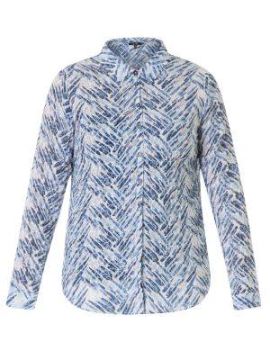 Härlig skjorta i blått ovh vitt med inslag av rosa och grått