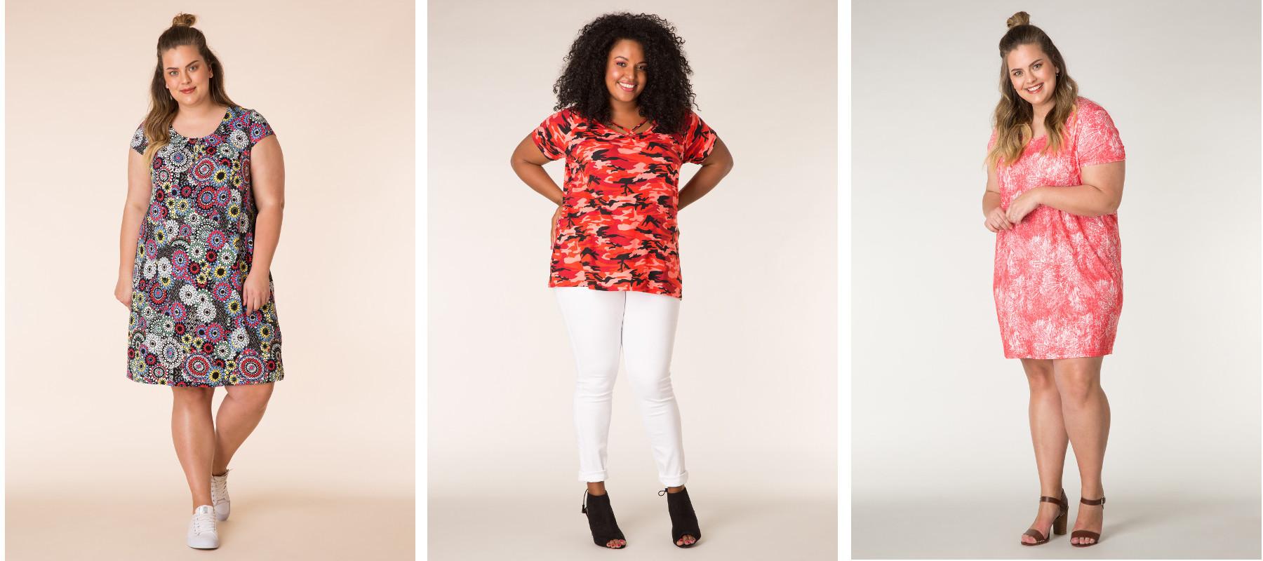 Vårkläder för tjejer kvinnor damer i stora storlekar
