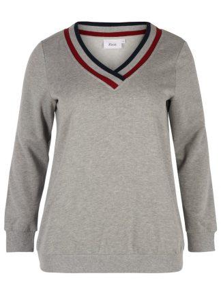 Mjuk och gosig sweatshirt i stor storlek