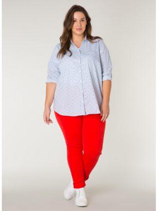 Ren bomullsskjorta för dam i storlek 50
