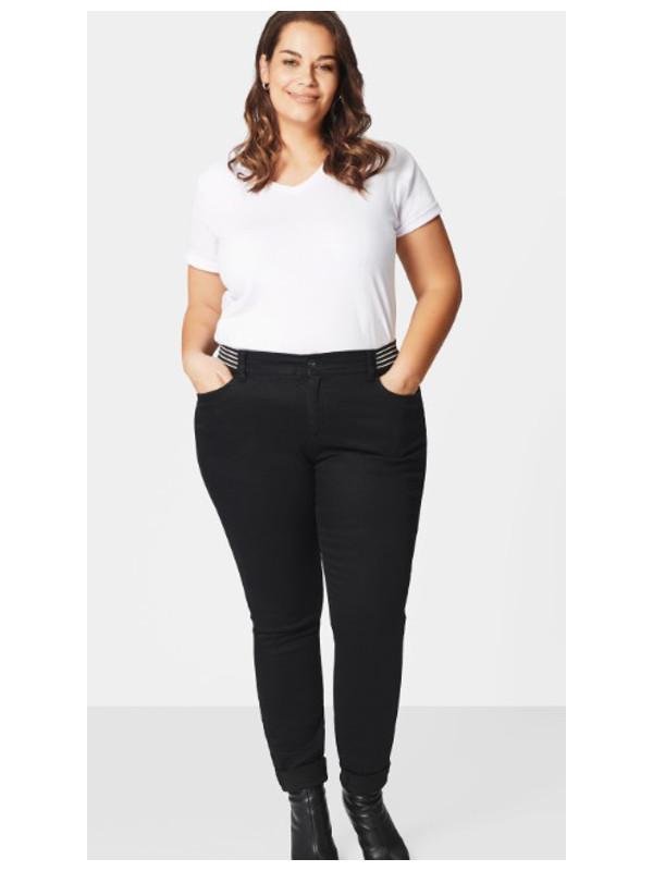 Svarta 5-ficks jeans i stor storlek för dam