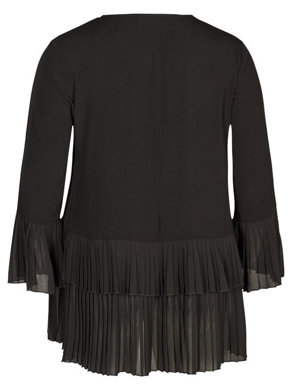 Snygg svart tunika i stor storlek