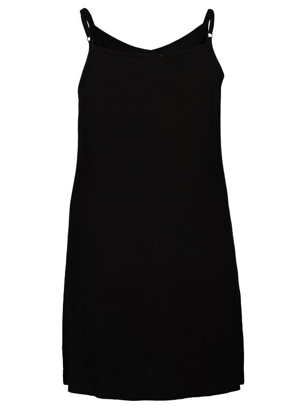 Svart underklänning i stor storlek