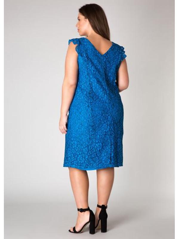 Blå festklänning i storlek 46