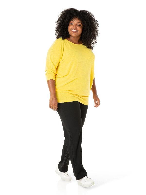 Gul tröja i stor storlek