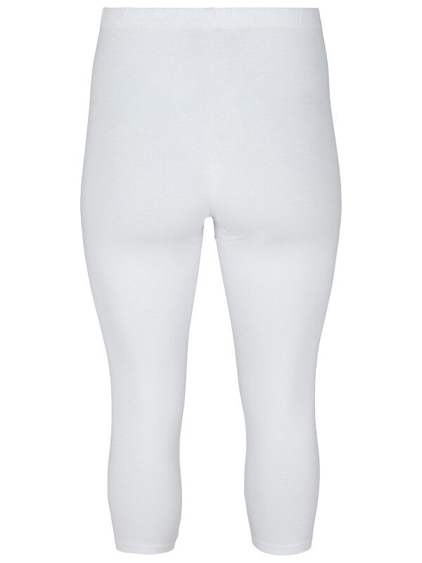 Vita korta leggings från Zizzi med stretch