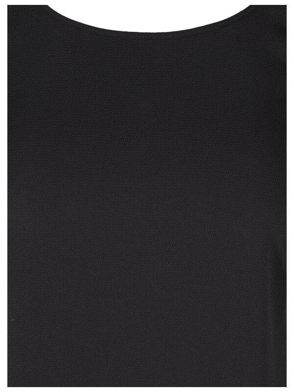 klänning i svart vävt tyg plus size