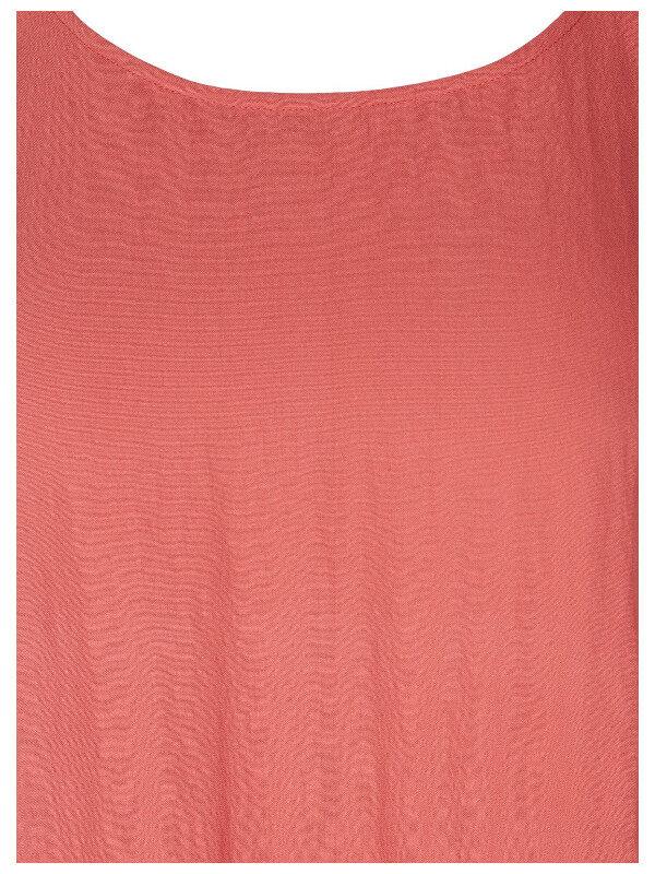 Rosa tjejklänning i större storlekar